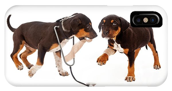 Puppy Veterinarian And Patient IPhone Case