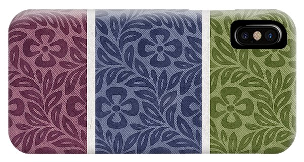 Contemporary Floral iPhone Case - Purple Blue Green by Aged Pixel