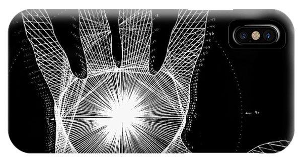Body iPhone Case - Quantum Hand Through My Eyes by Jason Padgett