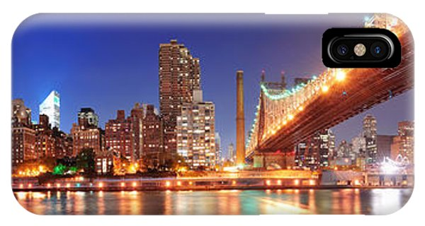 Queensboro Bridge And Manhattan IPhone Case