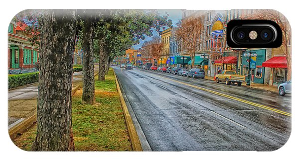 Rainy Day In Hot Springs Arkansas IPhone Case
