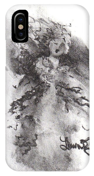 IPhone Case featuring the drawing Rapture Of Peace by Laurie Lundquist