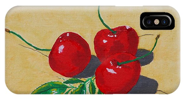 Red Cherries IPhone Case
