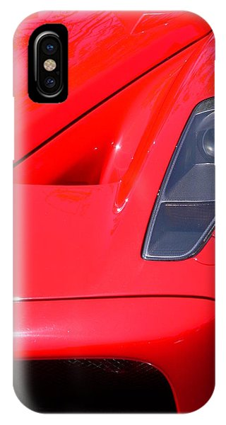 IPhone Case featuring the photograph Red Ferrari by Jeff Lowe