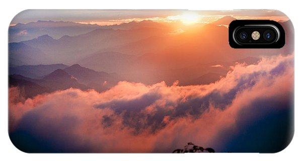 Red Sunset Himalayas Mountain Nepal IPhone Case