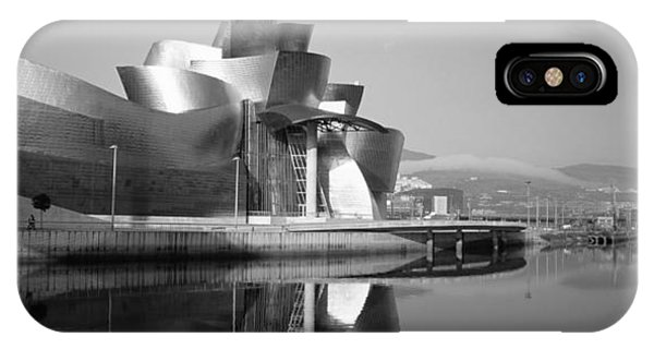Gehry iPhone Case - Reflection Of A Museum On Water by Panoramic Images
