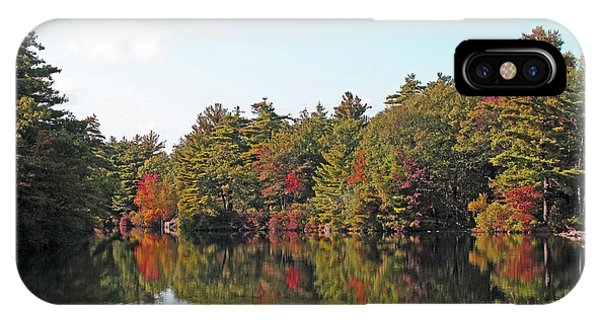 iPhone Case - Reflections One At Pearce Lake Breakheart by Barbara McDevitt