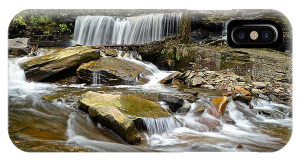 Fairy Glen iPhone Case - Ricketts Glen Delaware Falls by Frozen in Time Fine Art Photography