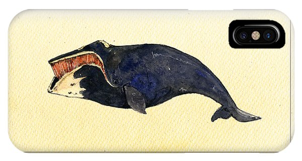 Rights iPhone Case - Right Whale by Juan  Bosco