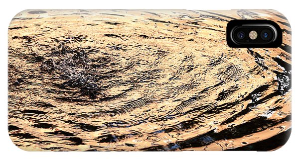Ripple Reflection In Fountain Water IPhone Case