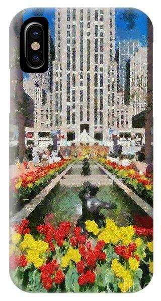 Rockefeller Plaza IPhone Case
