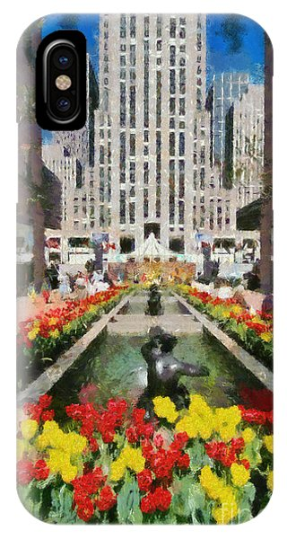 Rockefeller Plaza IPhone Case
