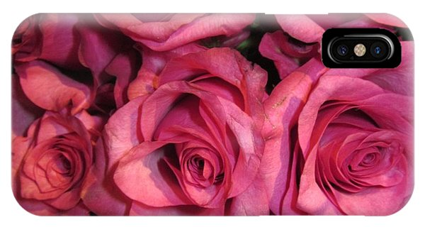 Rosebouquet In Pink IPhone Case