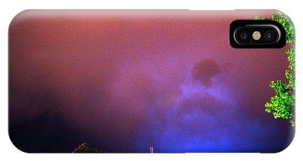 iPhone Case - Rounds 2 3 Late Night Nebraska Storms by NebraskaSC