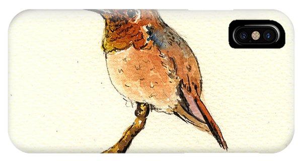 Hummingbird iPhone Case - Rufous Hummingbird by Juan  Bosco