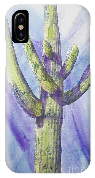 Saguaro In Winter IPhone Case