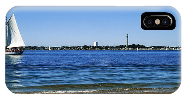 Cape Cod iPhone Case - Sailboat In Ocean, Provincetown, Cape by Panoramic Images
