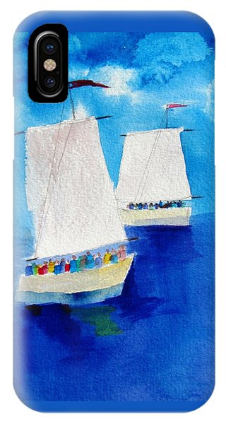 2 Sailboats IPhone Case
