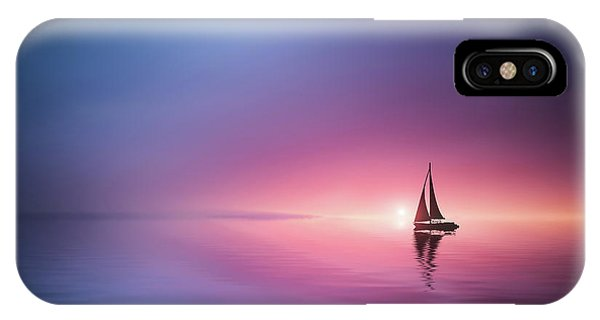 Dreamy iPhone Case - Sailing Across The Lake Toward The Sunset by Bess Hamiti
