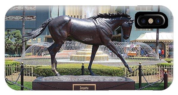 Santa Anita Race Track Statue Of Zenyatta IPhone Case