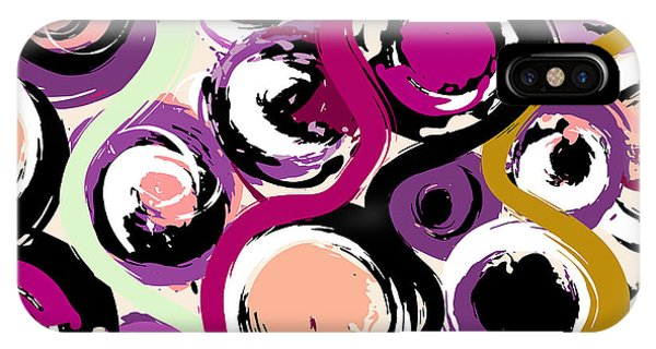 Bright iPhone Case - Seamless Background Pattern, With by Kirsten Hinte