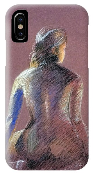 Seated Female Model IPhone Case
