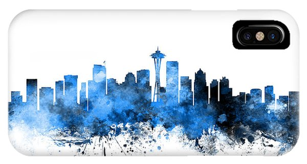 Seattle Skyline iPhone Case - Seattle Washington Skyline by Michael Tompsett