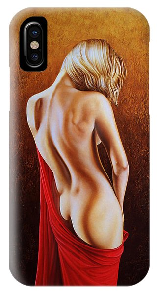 Nudes iPhone X Case - Secrets Of The Red Veil by Horacio Cardozo