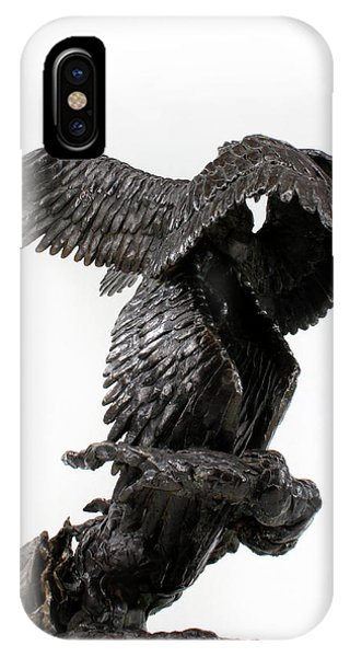 Seraph Angel A Religious Bronze Sculpture By Adam Long IPhone Case