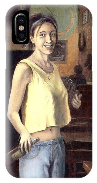 IPhone Case featuring the painting Shannon by G Linsenmayer