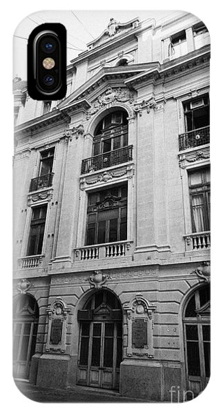 side of Santiago Stock Exchange building Chile Phone Case by Joe Fox