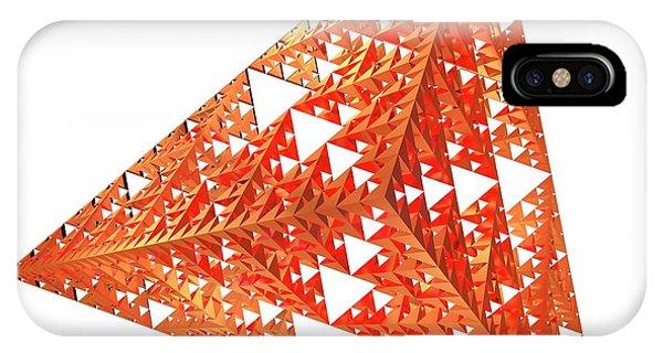 Fractal iPhone X Case - Sierpinski Fractal Pyramid by Alfred Pasieka
