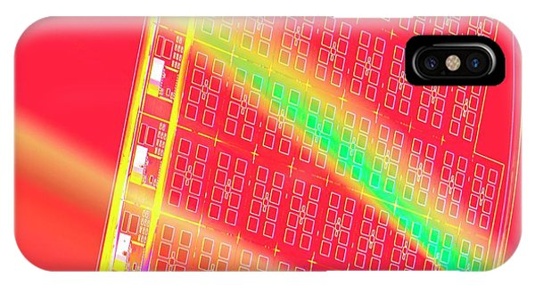 Silicon Wafer Phone Case by Chris Knapton