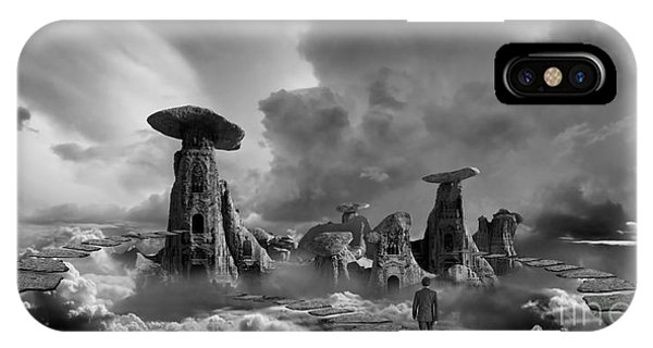 Desolation iPhone Case - Sky City Casino by Keith Kapple