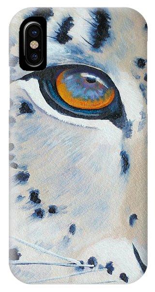 Snow Leopard Eye Phone Case by John  Sweeney