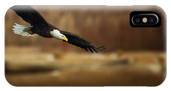 Soaring Bald Eagle IPhone Case