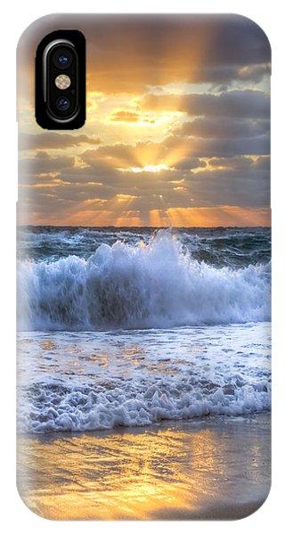 Boynton iPhone Case - Splash Sunrise by Debra and Dave Vanderlaan