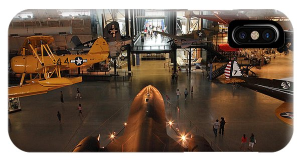 Sr71 Blackbird At The Udvar Hazy Air And Space Museum IPhone Case