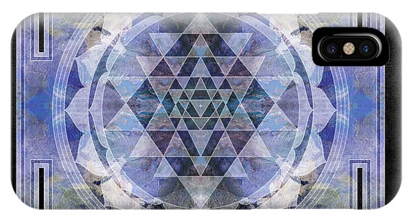 Buddhism iPhone Case - Sri Yantra  by Filippo B
