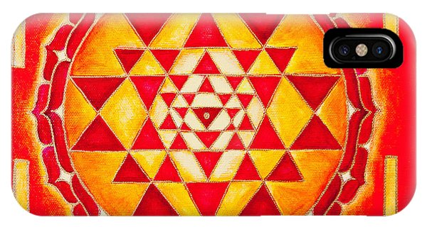 Sri Yantra For Meditation Painted IPhone Case