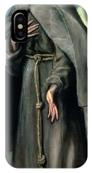 Poverty iPhone Case - St Francis Of Assisi by El Greco Domenico Theotocopuli