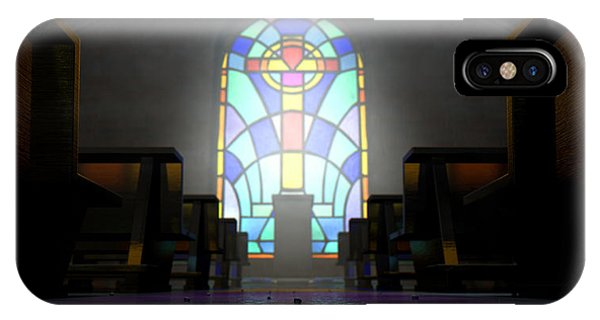Worship iPhone Case - Stained Glass Window Church by Allan Swart