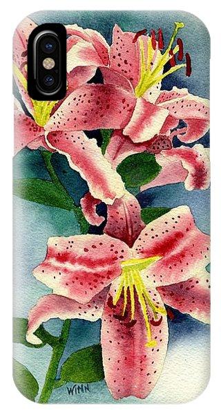 Stargazer Lilies IPhone Case