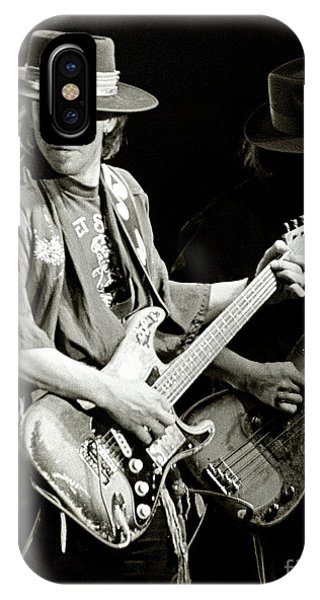 Rock And Roll Art iPhone Case - Stevie Ray Vaughan 1984 by Chuck Spang