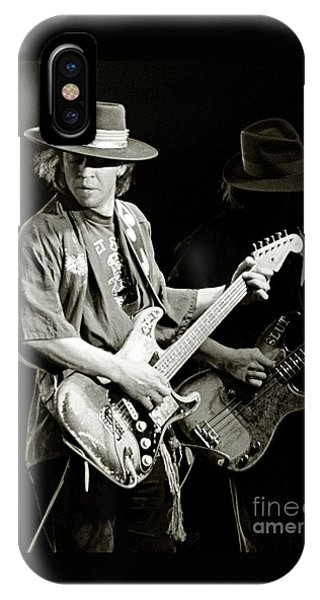 Style iPhone Case - Stevie Ray Vaughan 1984 by Chuck Spang