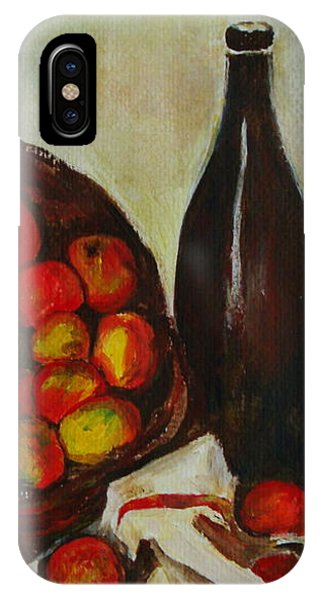 Still Life With Apples After Cezanne - Painting IPhone Case