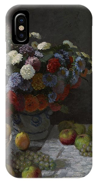 Still Life With Flowers And Fruit IPhone Case