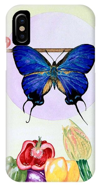 Still Life With Moth #2 IPhone Case