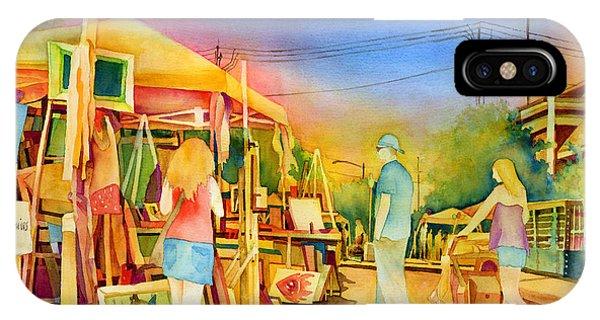 Downtown iPhone Case - Street Art Fair by Hailey E Herrera