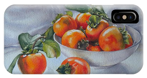 Summer Harvest  1 Persimmon Diospyros IPhone Case